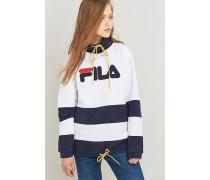 Sweatshirt aus Fleece mit Trichterkragen