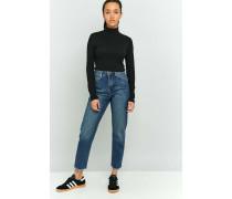 VintageJeans in dunkler Waschung mit ausgefransten Abschlüssen