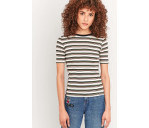 Urban Outfitters  Gestreiftes, geripptes TShirt in Creme