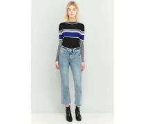 VintageJeans in blauer StoneWaschung mit Schlag