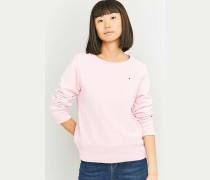 Sweatshirt in Rosa mit kleinem Logo