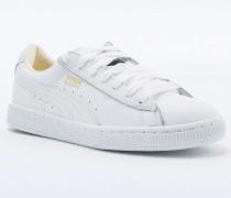 "Sneaker ""Classic"" aus Leder in Weiß"