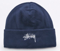 "Beanie ""Polar"" aus Fleece in Marineblau"