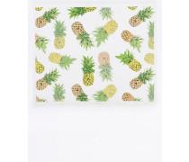 "Kosmetiktasche ""Yellow Pineapple"" mit Reißverschluss aus Plastik"