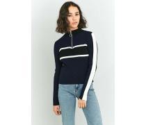Urban Outfitters  Pullover mit Stehkragen und Streifendesign