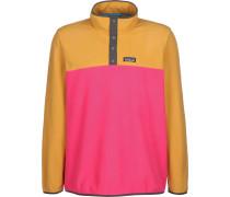 icro D Snap-T P/O Herren Fleecepullover pink gelb