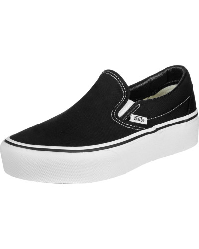 Classic Slip-On Platform Schuhe schwarz