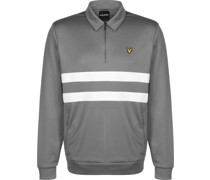 Wide tripe 1/4 Zip Half Zip weater