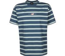 T01514 Herren T-Shirt blau gestreift