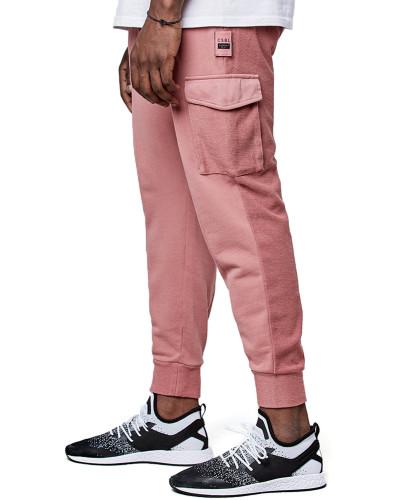 Twoface Cropped Herren Jogginghoe pink