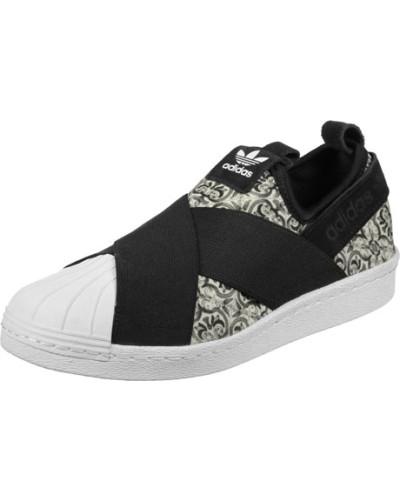 adidas Damen Superstar Slip On W Slipper Schuhe schwarz weiß schwarz weiß