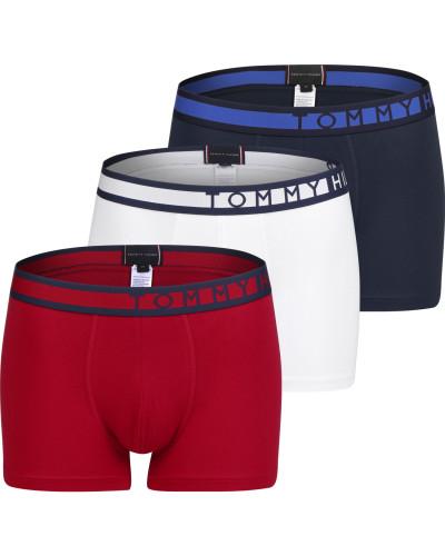 3 Pack Trunk Boxerhort Herren blau rot weiß