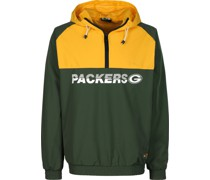 NFL Colour Block Green Bay Packer Windbreaker
