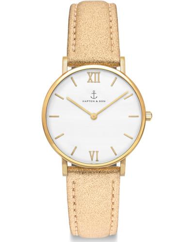 Joy Uhr gold glitter leather