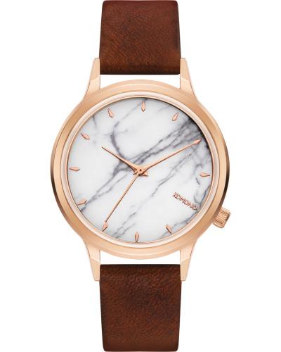 Lexi Marble Uhr white marble brown