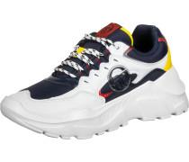Woxed Mix Herren Schuhe weiß blau