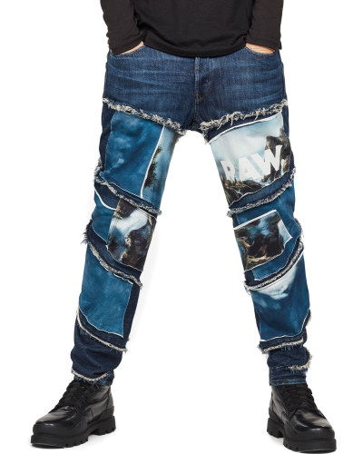 Spiraq Rftp Patches Water 3d Slim Jeans blau