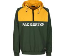 NFL Colour Block Green Bay Packer Windbreaker