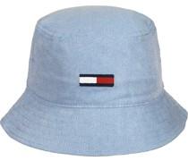 Flag Washed Denim Bucket Hat