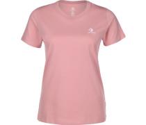 Embroidered Star Chevron Damen T-Shirt pink