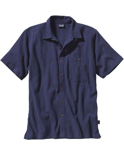 A/c Kurzarmhemd Herren blau