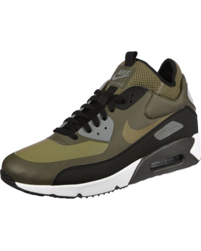 Spielraum Nike Air Max 90 Damen Leder Schuhe GrünSchwarz