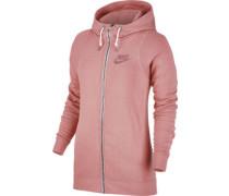 Modern W Hooded Zipper pink