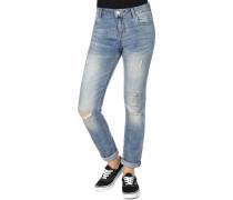 Slim Patch Destroyed Damen Jeans blau