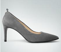 Damen Schuhe Pumps aus softem Veloursleder
