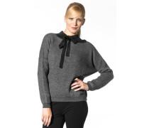 Damen Pullover, Wollmischung, dunkel