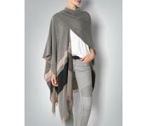 Damen Pullover Cape mit Blockstreifen-Dessin
