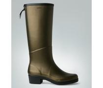 Damen Schuhe Gummistiefel in dezenter Metallic-Optik
