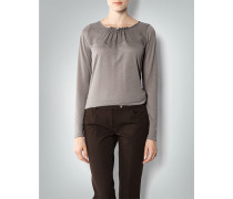 Damen Shirt im Material-Mix