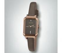 Uhr Uhr in Roségold mit Lederband