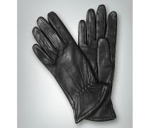 Damen Fingerhandschuh mit Elastik-Raffung