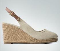 Damen Schuhe Wedges mit Keilabsatz im Espadrilles-Style