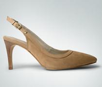 Damen Schuhe Slingpumps mit schmaler Blende