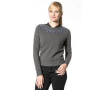 Damen Pullover Lammwolle-Kaschmir