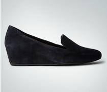 Damen Schuhe Slipper mit Keilabsatz