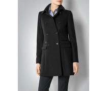 Damen Mantel mit Kunstlederdetails