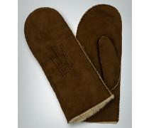 Damen Handschuhe Fäustlinge aus Lammfell