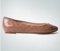 Damen Schuhe Ballerinas in Lackleder-Optik