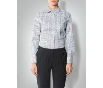 Damen Bluse mit modischem Allover-Print