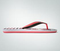 Damen Schuhe Zehensandale mit Beach-Print
