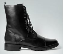 Damen Schuhe Schnürstiefeletten aus Premiumkalbleder schwarz