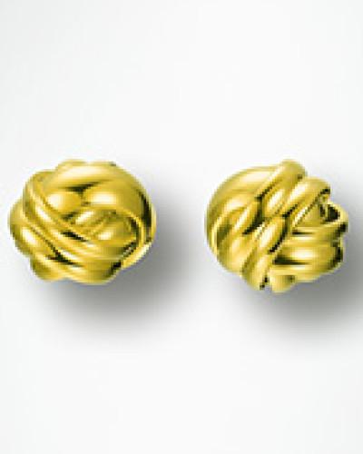 Schmuck Ohrstecker mit ineinander verschmelzenden Ringen