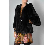 Damen Kapuzenjacke aus Fake Fur