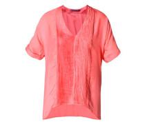 Damen Bluse Tunika Baumwolle-Seide flamingo