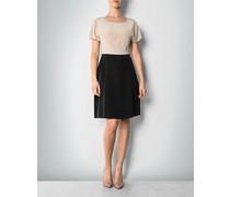 Damen Kleid im Two-Tone-Look ,schwarz