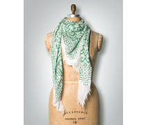 Damen Schal Tuch mit Ornamenten ,weiß